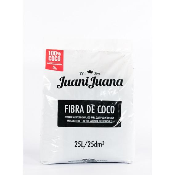 Sustrato Profesional Fibra De Coco 25lt Juanijuana 100% Coco