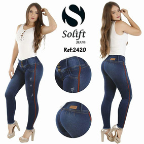 24 Jeans Colombianos 100% Originales Marca Solift Tiro Alto