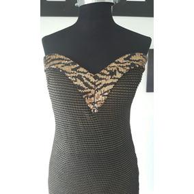 Vestido Strapless Con Lentejuelas Nuevos!!
