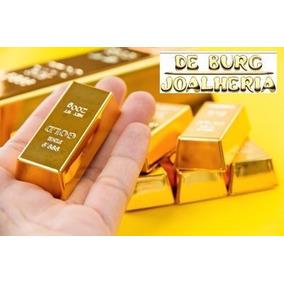 Barra De Ouro 18k 750 1g Confecção Joias Certificado Pureza