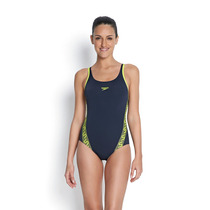 Malla Enteriza Natacion Speedo Fit Mujer Monogram Muscleback