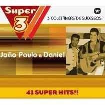 Box Com 3 Cds Joao Paulo E Daniel* 41 Super Hits