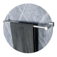 Barral Baño Simple 60 Cm Borde Cuadrado Toallero Aluminio