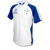 e284648579 Camisa Polo Viagem Cruzeiro Umbro 2017 Branca Original
