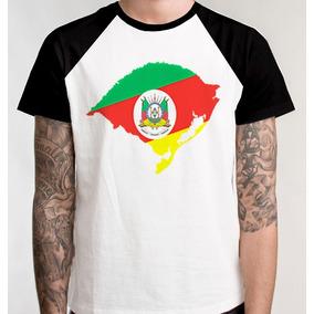 Camiseta Raglan Camisa Blusa Mapa Rio Grande Do Sul Unissex