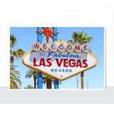 Placa Decorativa - Vintage - Las Vegas