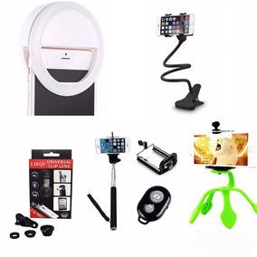 Luz Selfie Anel Led Flash Celular + Kit Youtuber Gekkopod