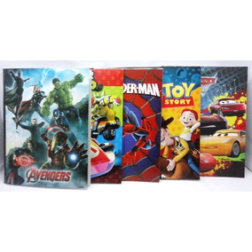 Libreta Escolar Avengers Cars Spiderman Mario Bros