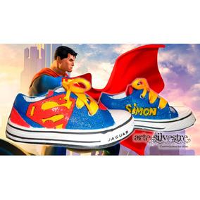 Zapatillas Pintadas/customizadas Personalizadas Superman