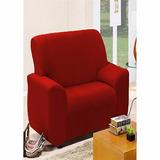 Capa Coladinha Protetora De Sofa Poltrona 1 Lugar Vermelha