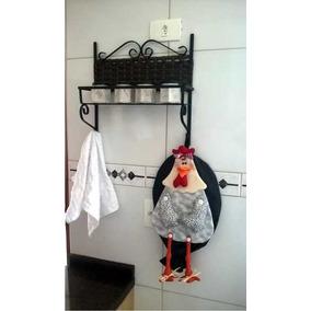 Prateleira Porta Treco Para Cozinha, Banheiro, Quarto, Etc