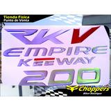 Emblemas Rkv 200 Kit Completo Reflectivo Empire