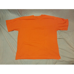 Remera Lee Talle 4xl Xxxxl Largo 84 Cm Axila 78 Naranja