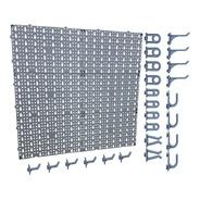 Pegboard Organizador Painel Modulado Perfurado Ferramentas Com 24 Ganchos