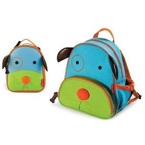 Kit Mochila Lancheira Infantil Zoo Cachorro Skip Hop