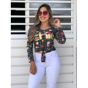 Kit 10 Blusa T-shirt Estampada Choker Onça Blogueira Atacado