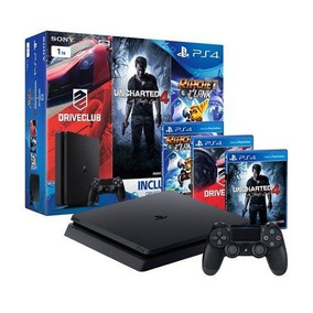 Video Game Ps4 500 Playstation 4 Slim + 3 Jogos +90 Dias Psn