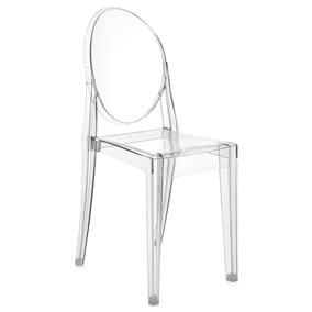 Cadeira Policarbonato: Transparente, Preta, Âmbar E Fumê