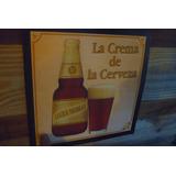 Cartel Publicidad Cerveza Negra Modelo Chapa Original