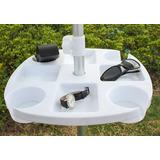 Accesorio Para Sombrilla Mesa Plástico Portavasos Playa Pati