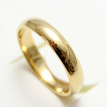 Aliança Banhada A Ouro 18k Casamento 4mm (1un.)promoção