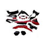 Kit Plasticos Rojo Con Negro Sin Calco Guerrero 110 Dl