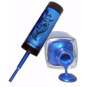 Esmalte Azul Perolado Para Carimbo 9ml - La Femme