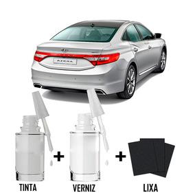Tinta Tira Risco Automotivo Hyundai Azera Cor Prata