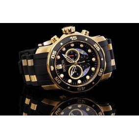 Relógio Invicta Scuba 6981 Original +corrente Banhado A Ouro