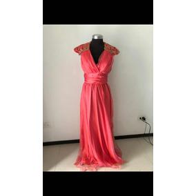 Vestido Talla 8 Sin Marca /color Coral Tornasol
