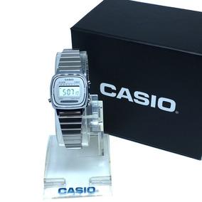 Relogio Casio La670 Mini Prata Feminino Original