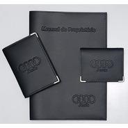 Audi Kit Porta Manual+porta Doc.+porta Cartão P Couro Eco