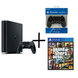 Playstation 4 Slim De 1 Tb + 2 Controles Y Gta V