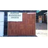 Porton Madera Garage Algarrobo