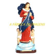 Escultura Nossa Senhora Desatadora Dos Nós Linda Imagem 60cm
