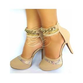 Lindo Sapato Feminino Scarpin Salto Alto Sandália Formatura