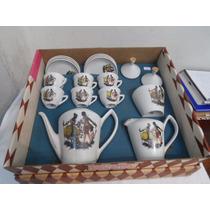 Jogo Café Porcelana Pozzani Conjunto Simoni 9 Pçs Na Caixa