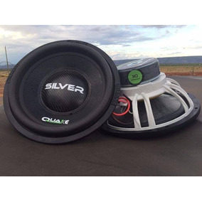 Kit C/ 2 Subwoofer Quake 500 Rms Silver Qsw 0.5k 12