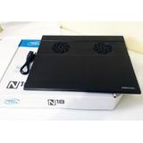 Cooler Para Laptop Deep Cool N18 Usb Nuevo Negro Aluminio