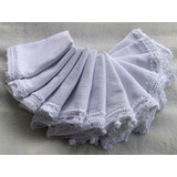 Pano De Prato Barrado Crochê Branco 8 Modelos Tipo Saco