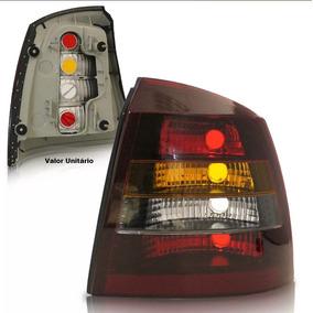 Lanterna Traseira Astra Sedan 1998 À 2002 Tricolor Fume