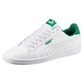 Tenis Puma Smash Perf White/green Cabaleero Super Precio