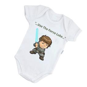 ... Star Wars - Filmes - O Despertar Da Força - Geek. Santa Catarina · Body  Bebê Poliéster Luke Skywalker Use The Force B377brp 8b892337b67