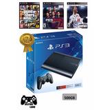 Ps3 Play Station 3 - 500 Gb + 55 Juegos Digitales