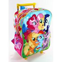 Mochila 12 Carro My Little Pony Original 2 Jardin Escolar