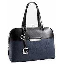 Bolsa Feminina Calvin Klein - Azul Com Preto - 12x Sem Juros