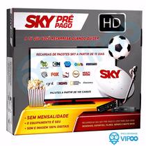 Sky Pré Pago Flex Hd Antena, Receptor, Acessórios - Completo