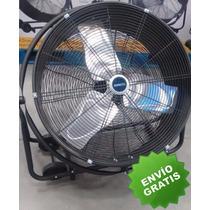 Abanico Ventilador Industrial Heavy Duty Ruedas 24 Pulgadas