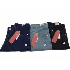 Kit 3 Calças Jeans Masculino Corte Reto Tradicional