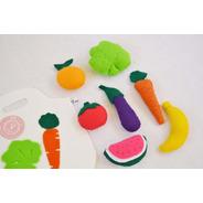 Comiditas De Tela Set Frutas Y Verduras Con Bolsita D Compra